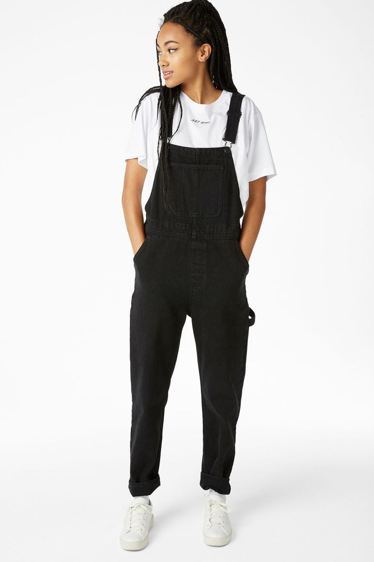 Denim dungarees - Black magic - Jumpsuits - Monki NL