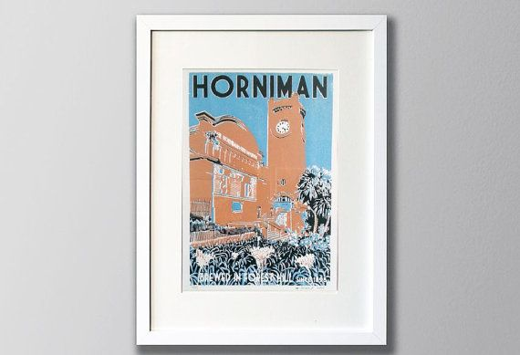 Horniman Museum Screen Print, Forest Hill, South London - Limited Edition 3 colour Screen Print UNFRAMED
