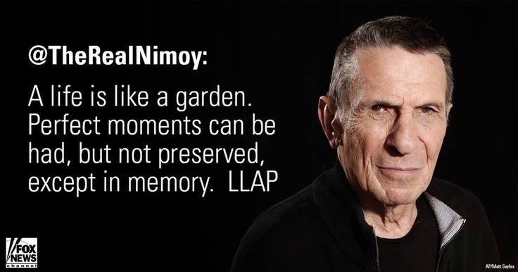 Today, the entire geek world lost an icon. Mr. Nimoy taught generations how to live long and prosper, now he teaches us this. The ship is out of danger Mr. Spock. Rest in Peace.