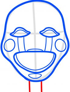 How to Draw The Puppet from Five Nights at Freddys 2