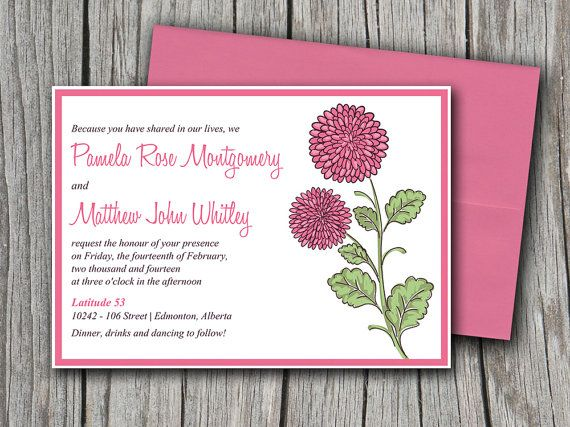 75 best Spring Wedding images on Pinterest Floral invitation - how to make invitations with microsoft word