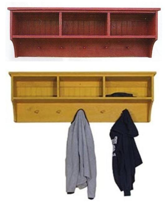 Front Hallway Coat Hooks And Storage Cubbies