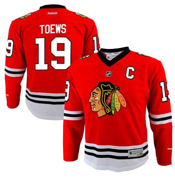 Chicago Blackhawks Jersey - Home Red NHL Hockey Jersey - Several Players