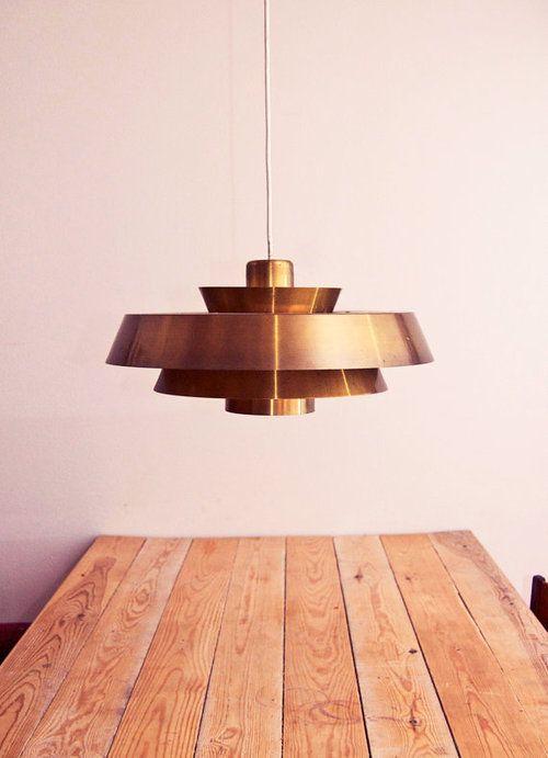 "Danish mid-century light ""Nova,"" by Danish designer Jo Hammerborg. (via OldAndCold)"