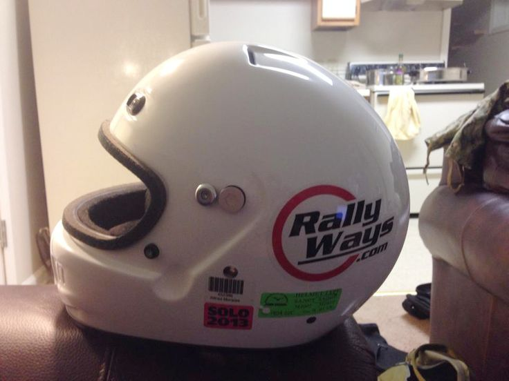 Alfred rocking a RallyWays decal on his race helmet. #rallyways