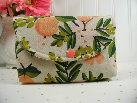 Floral Clutch Personalized Gift for Her Small Travel Organizer Monogrammed Zipper Pouch Rifle Paper Co Clutch Mothers Day Gift Under 30