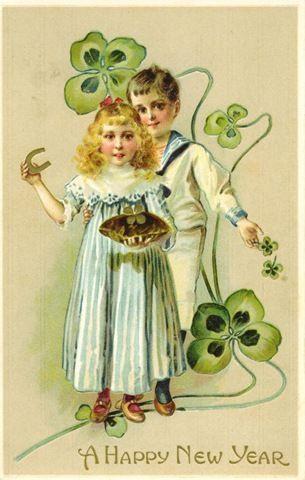 free-vintage-happy-new-year-cards-four-leaf-clovers-horseshoe-boy-girl.jpg