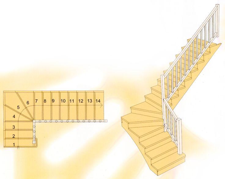 Escalera en forma de L