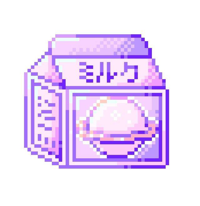 Saturn Milk Anime Pixel Art Pixel Art Pixel Art Tutorial
