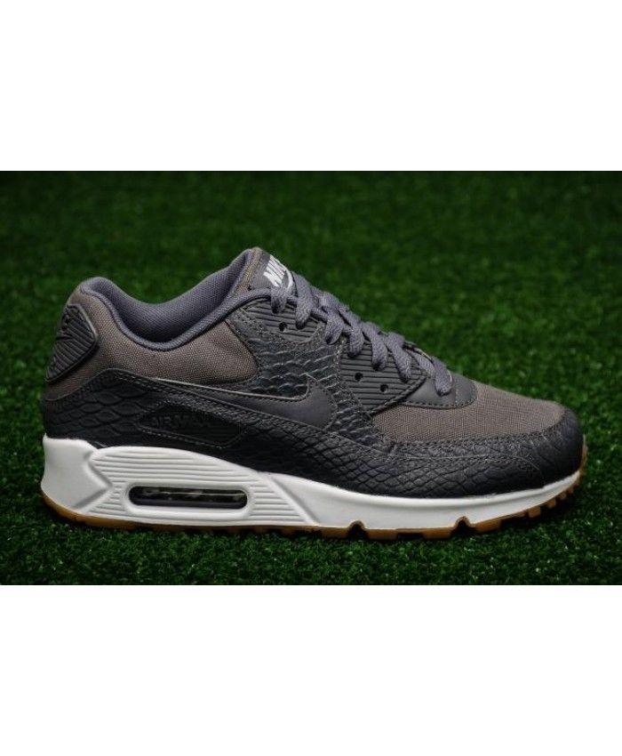 timeless design 39424 1b1f8 Women s Nike Air Max 90 Premium Dark Grey Gum Yellow White 896497-003