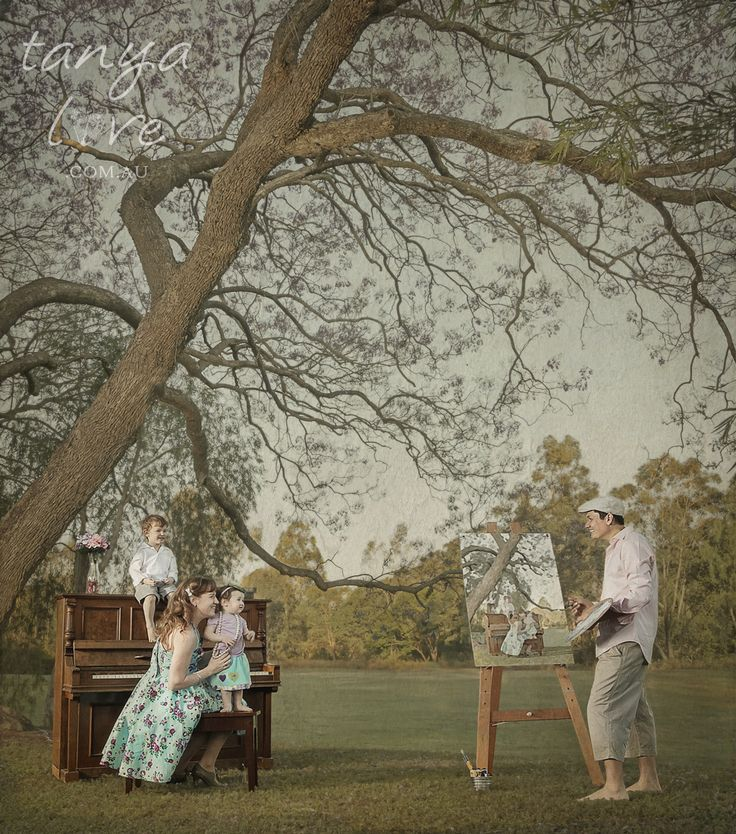 """""""Watercolour Symphony"""" Family Portrait - Copyright Tanya Love. www.tanyalove.com.au 2013. All rights reserved."""