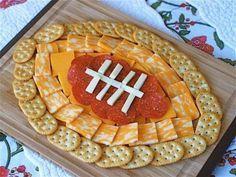 Football stadium cheese plater