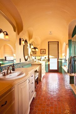28 best images about traditional saltillo tile for the for Terracotta bathroom ideas