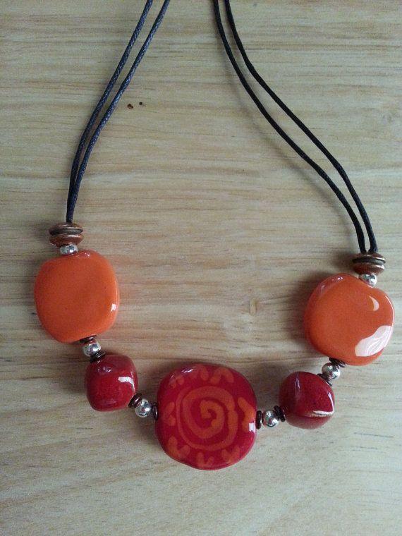 Kazuri Bead Necklace  Beads from Kenya Africa by Panache808, $35.00