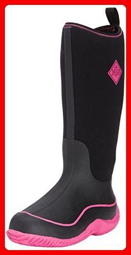 Muck Boots Hale Damen Kniehohe Stiefel mit warmem Futter, Schwarz (Black/Hot Pink)-42 EU (8 UK) - Stiefel für frauen (*Partner-Link)