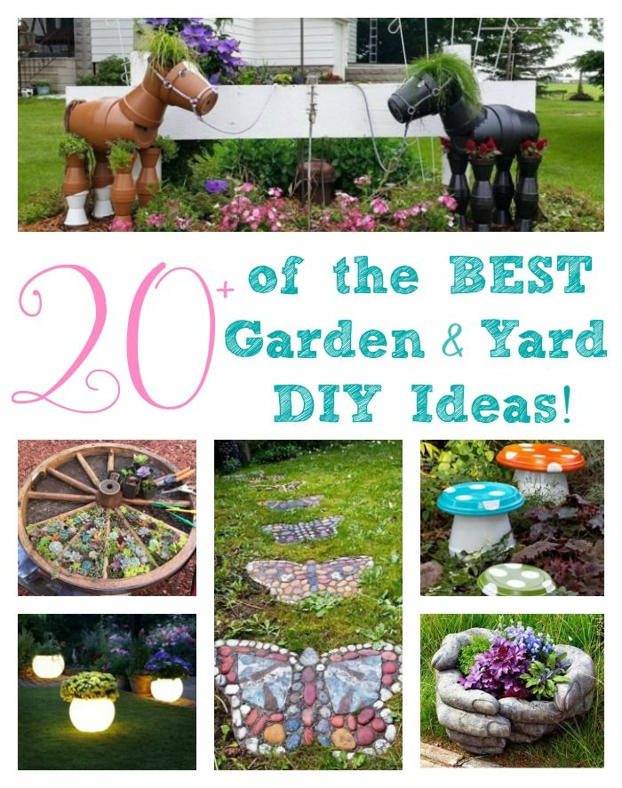 Over 20 of the BEST Garden Ideas & DIY Yard Projects....some really cute ideas!!!