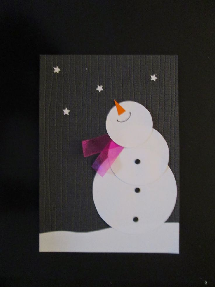 Открытки снеговиков своими руками