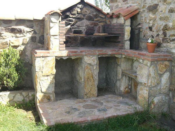 Barbacoa de piedra sencilla sistemas constructivos - Barbacoa de ladrillo ...