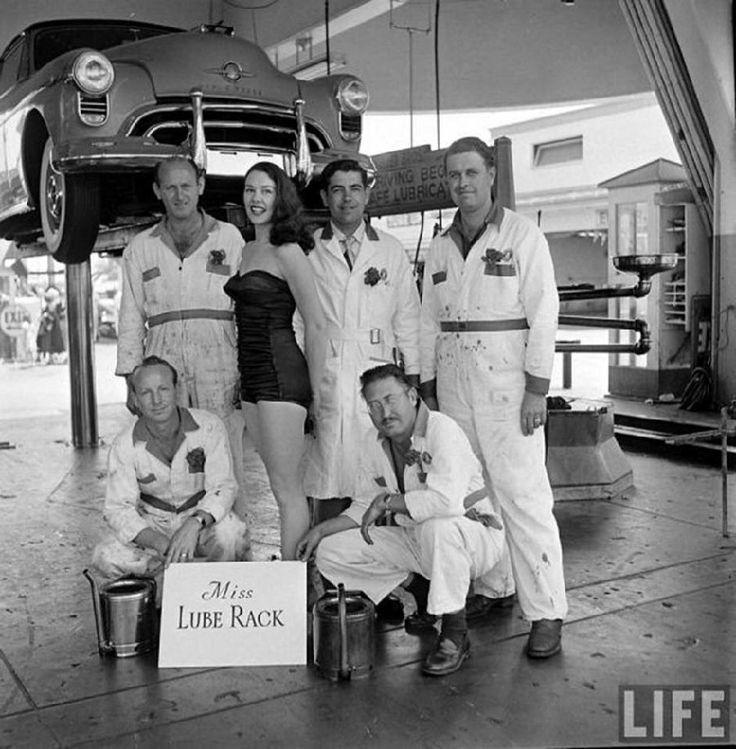 Miss Lube Rack 1955!! Her name is Nancy D'Alesandro at