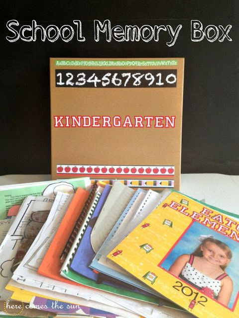 Another fun option is to make school memory boxes. | 26 Ways To Preserve Your Kids' Memories Forever