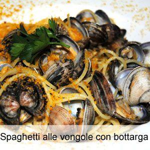 Ricetta spaghetti alle vongole con bottarga