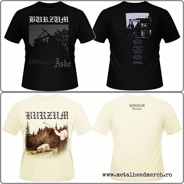 Tricouri oficiale Burzum Alege-ti tricoul accesand www.metalheadmerch.ro #romania #tricou #burzum #filosofem #aske #blackmetal