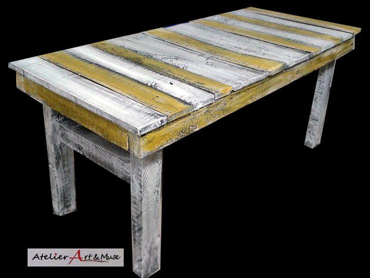 11 best images about meubles d 39 atelier art muse en bois - Peindre un banc en bois ...