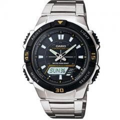 Solar Ana Digi Watch Regular price$ 59.95 Add to Cart Casio Tough Solar Ana Digi Watch  Casio Tough Solar Ana-Digi Watch ... Utilizing a unique Self- Charging solar power system, this sporty analog/digital combination model provides plenty of functionality. A host of features such as 48-city world time, 5 alarms, stopwatch and dual countdown timers make this a versatile timepiece for almost any sport outing. Silver stainless steel band analog and digtal watch with black face. 100M water…