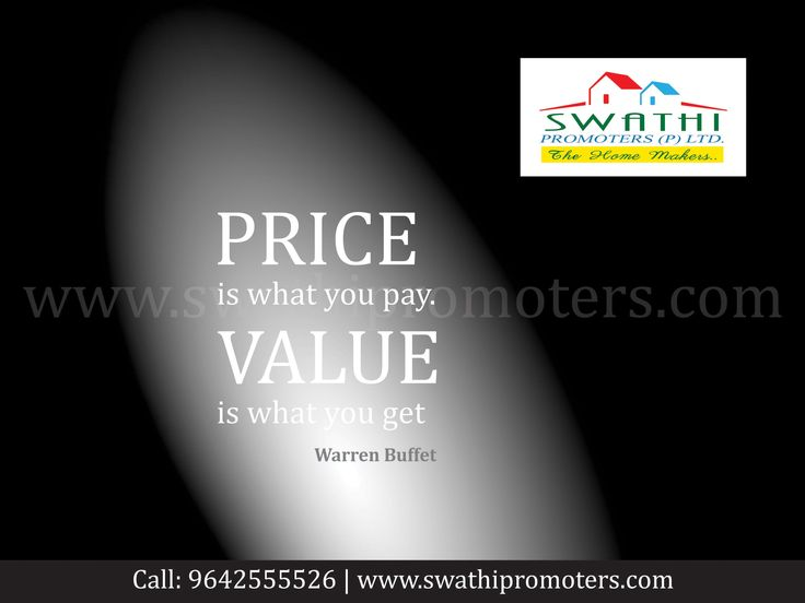 The Price is what we Invest and the Value What we get in Swathi Promoters Pvt.Ltd., Vizag. Website - www.swathipromoters.com Ph no - 9642555526