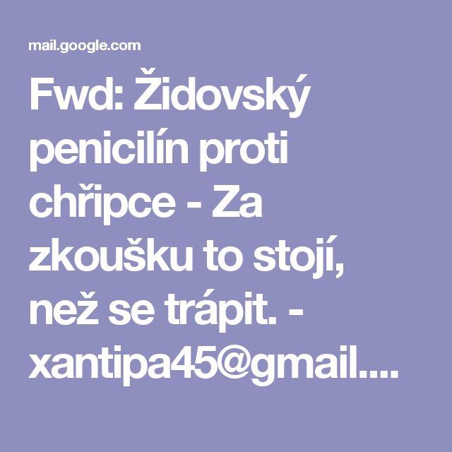Fwd: Židovský penicilín proti chřipce - Za zkoušku to stojí, než se trápit. - xantipa45@gmail.com - Gmail