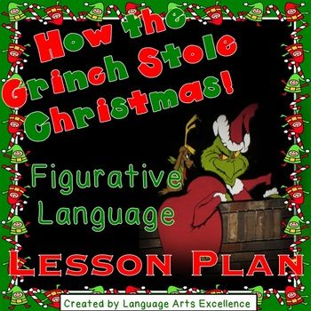 This product features the perfect activity to include in your holiday repertoire! In this differentiated lesson plan, students examine the figurative language in Dr. Suess' How the Grinch Stole Christmas in a thoughtful, engaging, and creative way. Teach this lesson any time in the month of December