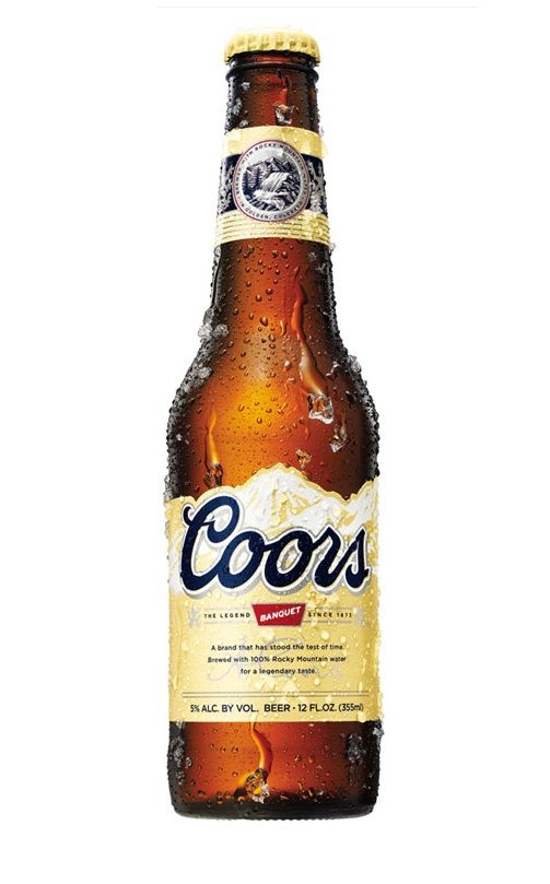 Coors, Pale Lager 5,0% ABV (Coors Brewing Company (MillerCoors), USA)