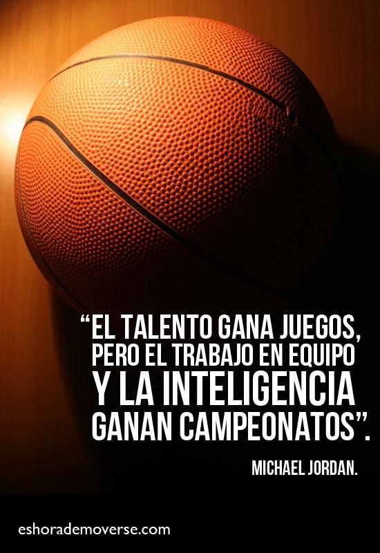 """""""El talento gana juegos, pero el trabajo en equipo y la inteligencia ganan campeonatos"""" Un ejemplo claro del trabajo en equipo es la frase anterior, el trabajo duro conlleva al logro de nuestros éxitos individuales más sin embargo si trabajamos en equipo podemos lograr mejores y grandes cosas"""