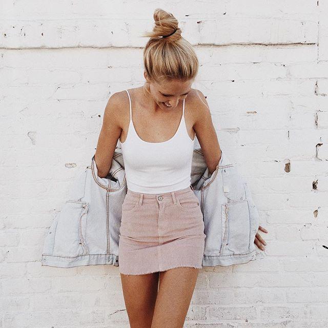 #brandyusa Reina Bodysuit & Juliette Corduroy Skirt