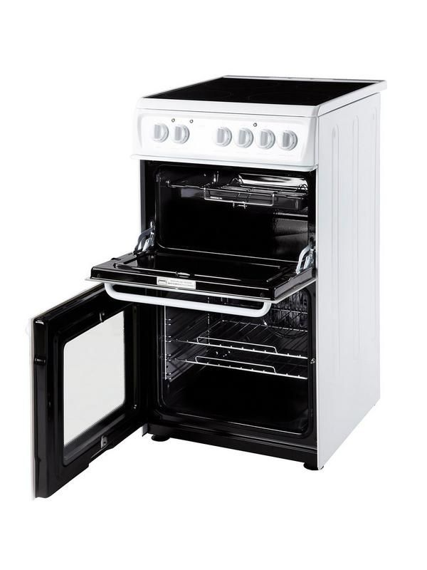 HAE51PS 50cm Twin Cavity Electric Cooker   White