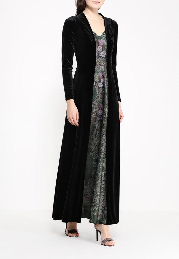 Вечернее платье из черного бархата и вставки в винтажном стиле. Цветочный орнамент украшен кристаллами Swarovski. Эластичная ткань, не мнется.