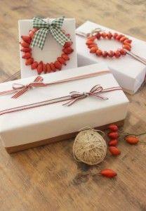 geschenkverpackung basteln mit hagebutten