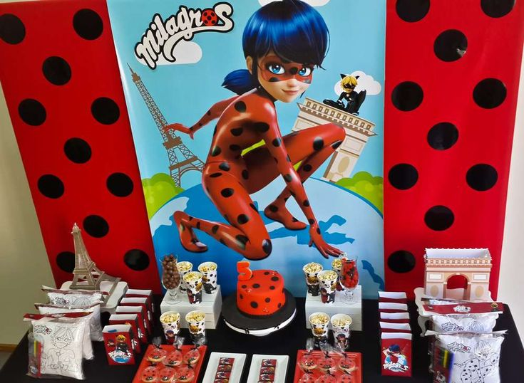 Take a look at this pretty Ladybugs Birthday Party ! The dessert table is awesome!! See more party ideas and share yours at CatchMyParty.com #ladybug #ladybugparty