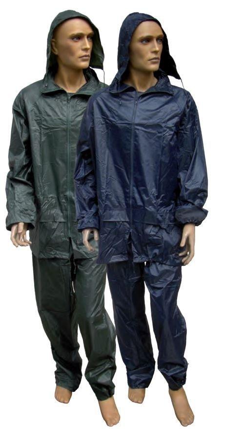 Completo tuta anti pioggia anti acqua giacca pantalone per Bici Moto Pesca