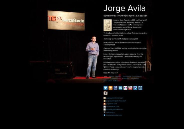 Jorge Avila's page on about.me – http://about.me/jorgeavilam