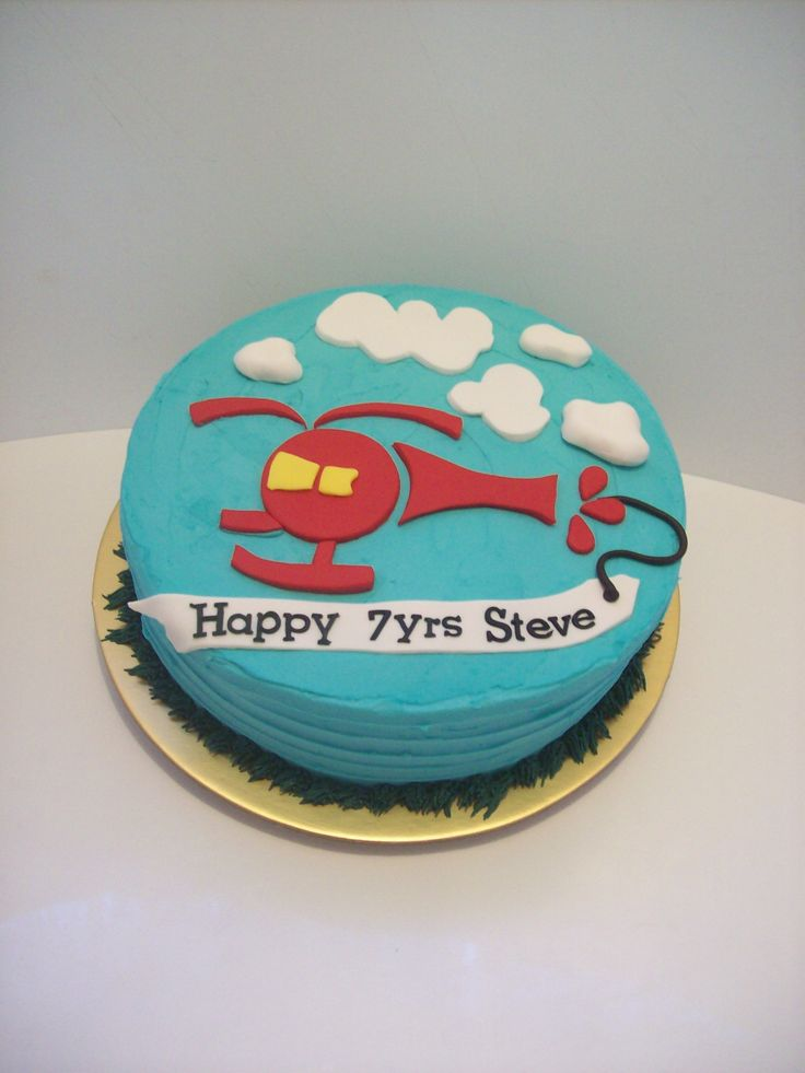 Helicopter Cake Auckland $165 10 inch ButterCream.