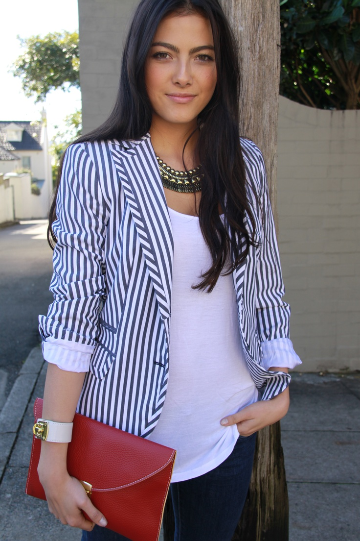 Lola & Syd cream leather cuff + berry clutch + gold cleopatra necklace