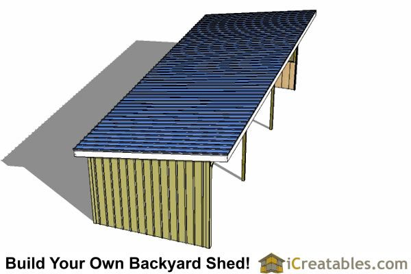 12x36 Run In Shed Plans Run In Shed Shed Plans Diy Carport