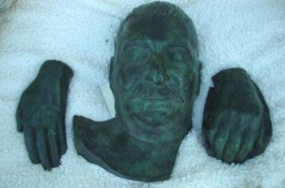Stalin's historic death mask - thought to be one of just two in the West. Stalin's rare and historic bronze mask is one of just 12 taken from the original plaster death mask made following his death in 1953.