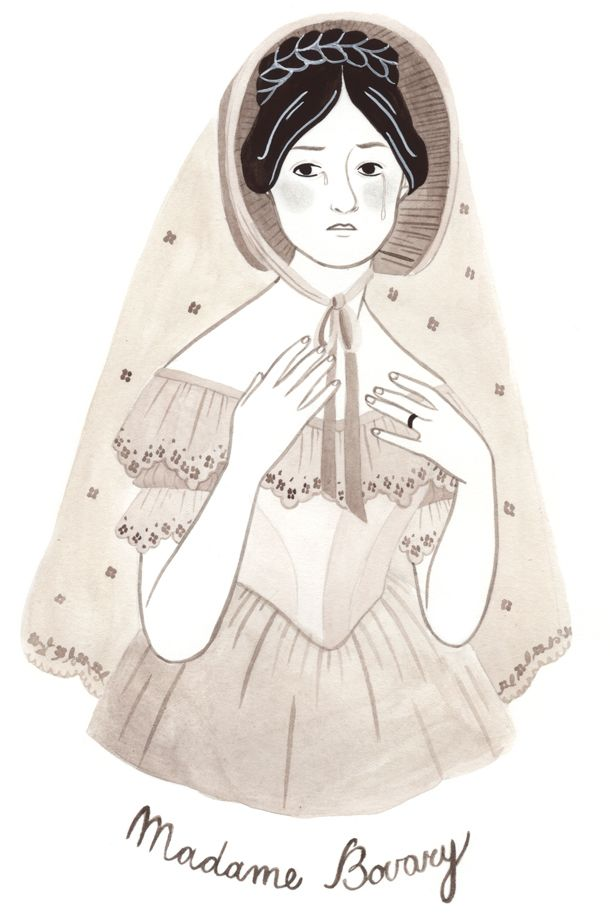 Madame Bovary illustrated by Giorgia Marras on www.softrevolutionzine.org  #giorgiamarras