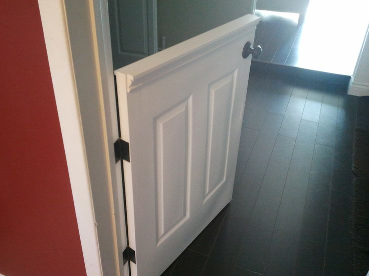 Half Doors Installed A Door To Isolate Our Dog From The Laminate Flooring Home Remodeling In 2018 Pinterest And Baby