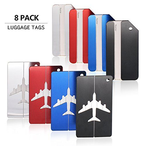 Luggage Tags Travel ID Labels Tag For Baggage Suitcase Bag8 Pack By Aootech