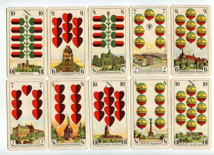 German vintage playing cards.