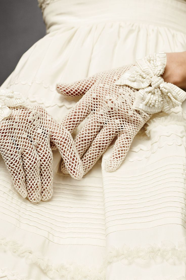 Crochet gloves - love them! I actually have gloves to match every outfit and hat. I use to wear them all the time on Sundays!