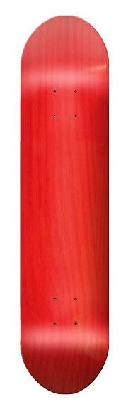 "Red Blank SKATEBOARD DECK  7.75"" - W/ Grip Tape #Blank"